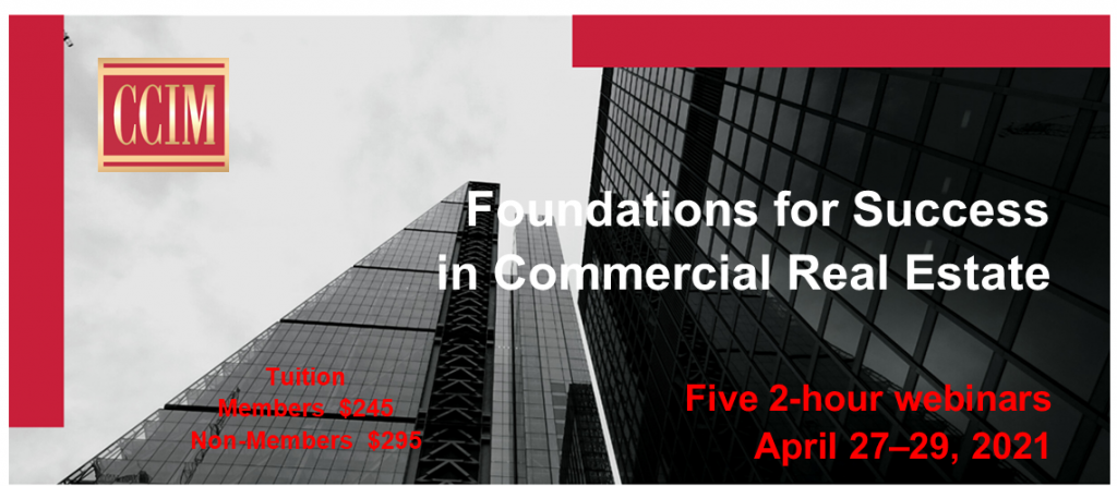 Foundations for Success in Commercial Real Estate @ Zoom Webinar