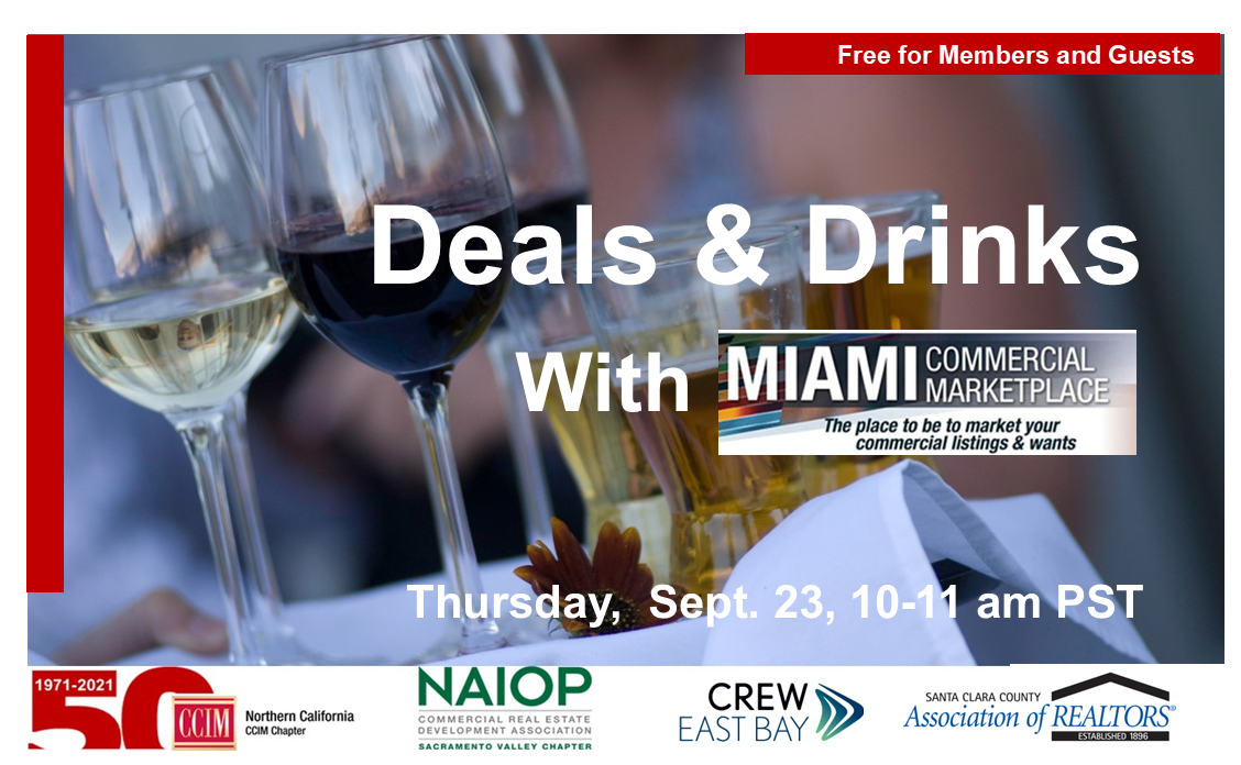 Deals & Drinks With Miami, Sept. 23 @ Zoom Meeting